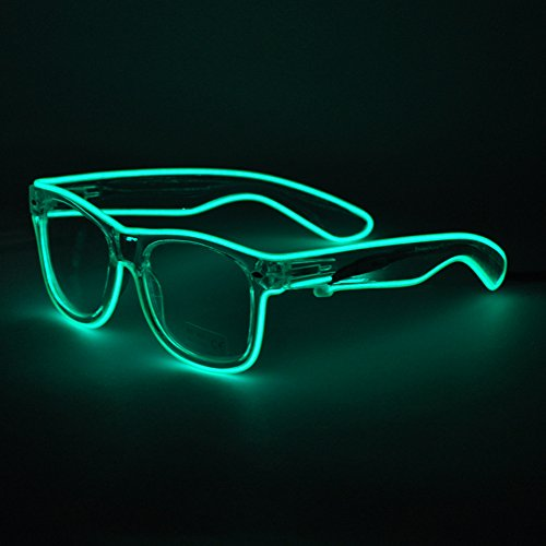 Huaosgoes Light Up Shutter Glasses El Wire Glasses for party/Festival Bar …