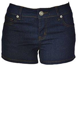 143Fashion-Ladies-Stretchy-Jean-Shorts-Dark-Blue-Large