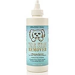 Dog Tear Stain Remover - Most Effective White Fur Eye Treatment - Best Solution For Removing Saliva and Mucus Build Up In Maltese, Chihuahua, Shih Tzu and Alike, 8oz
