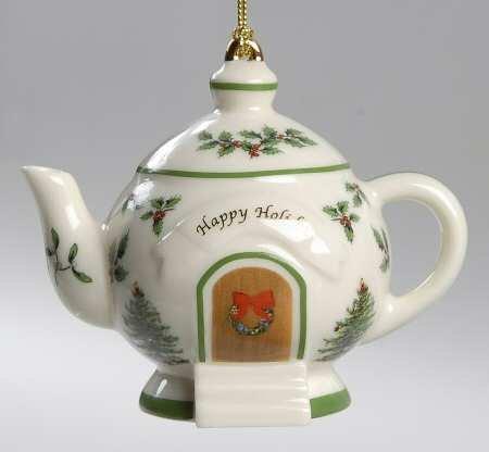 Spode Christmas Tree Ornament - Teapot