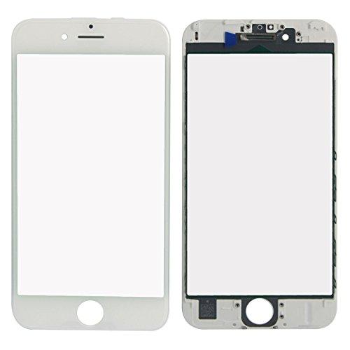 SKILIWAH® iPhone6S 4.7インチ 前ガラスパネル フロントガラス フレーム付き A1688 A1633 A1700  修理用部品 パーツ  ホワイト