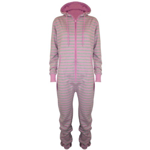 Gracious Girl Women's Buena Stripe Hooded Jumpsuit Onesie