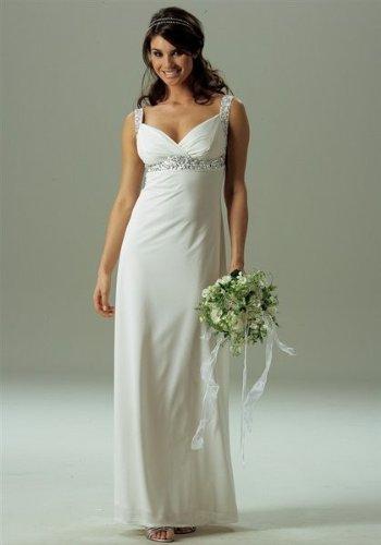 S*J 133 LAURA SCOTT Brautkleid Abendkleid m Pailletten Gr. 34