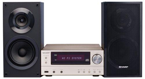 Sharp XL-E171DVH Hifi Heimkinosystem (HDMI, Upscaler 1080p, DVD/CD-MP3 Player, 60 Watt, USB 2.0)