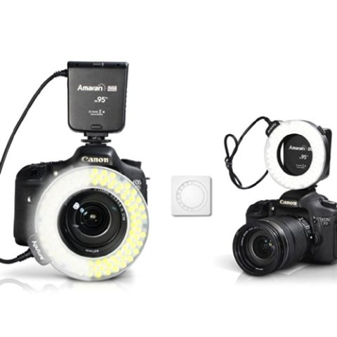 Aputure-Amaran-Halo-AHL-HC100-CRI-95-LED-Macro-Ring-Flash-Light-for-Canon-DSLR-Camera