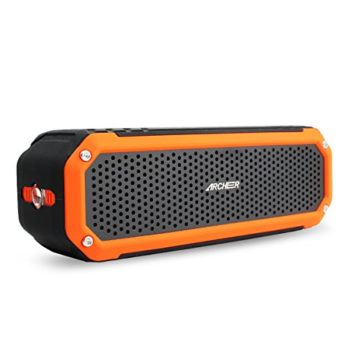 Bluetooth Speakers Archeer Portable Outdoor Speaker with Bass, Flashlight, 12 Hour Playtime 10W Drivers, A226 Black&Orange