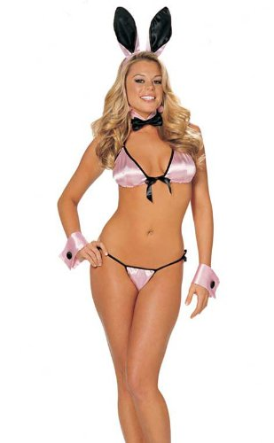 SeXy Itsy Bitsy Bunny Costume 5 Pc Pink