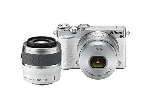 Nikon 1 J5 Mirrorless Digital Camera w/ 10-30mm PD-ZOOM Lens & 30-110mm Lens (White)