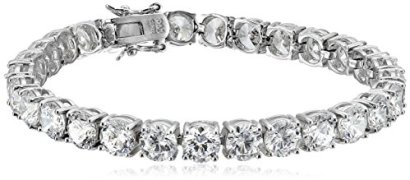 Sterling-Silver-Round-Cut-6mm-Cubic-Zirconia-Tennis-Bracelet