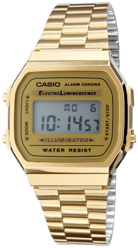 Casio Collection Herren-Armbanduhr Digital Quarz A168WG-9EF