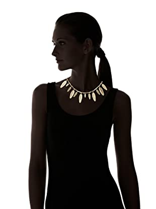 House of Harlow 1960 Golden Feather Necklace