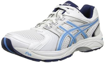 ASICS Women's Gel Tech Neo 4 Walking Shoe,White/Periwinkle/Ink,8 M US