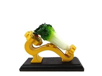 故宮博物院 百財如意 蓄光 翠玉白菜 置物