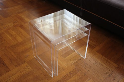 DisplayGifts AC-TB1 Clear Acrylic Nesting Table Coffee End