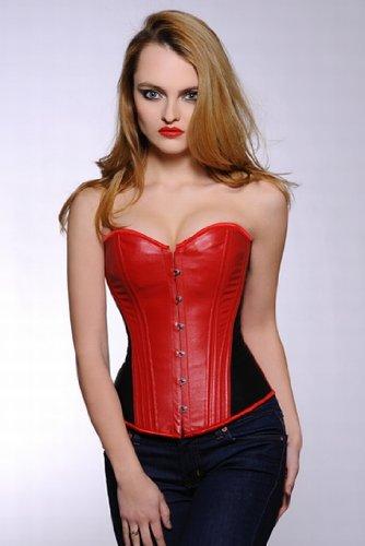 exklusive schwarz rot Leder Korsett, Größe 32,34,36,38,40