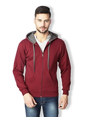 Rodid Men's Cotton Solid Full Sleeve Sweatshirt Maroon_XX-L