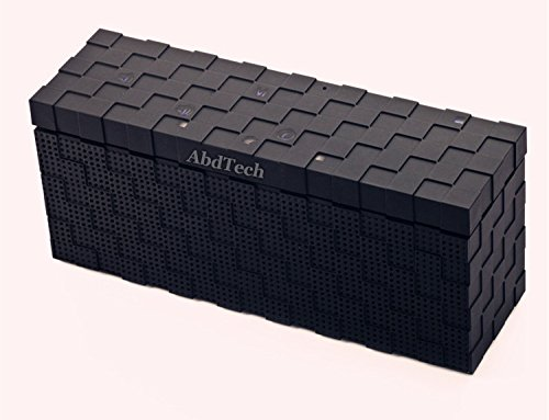 Abdtech Ultra Portable Wireless Bluetooth 4.0 Speaker - Stereo Sound,Touch button,Works for Iphone, Ipad Mini, Ipad 4/3/2, Itouch, Blackberry, Nexus, LG ,Samsung and other Smart Phones and Mp3 Players , (Black)