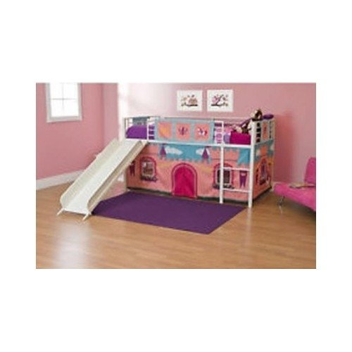 ... Loft Bed With Slide Princess Tent Canopy Castle Twin With Curtain Bunk Bed ...  sc 1 st  Funk This House : castle tent bed - memphite.com
