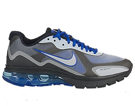 Buy Nike Air Max Alpha 2011+ Mens Running Shoe [454347-401] Drenched Blue/Metallic Silver-Black Mens Shoes 454347-401-7