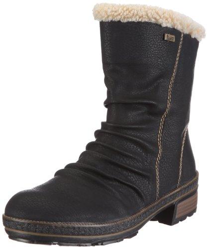 Rieker Fenja Z5453-00, Damen Stiefel, Schwarz (schwarz/beige 00), EU 39