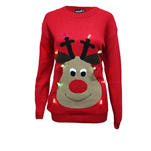 New-Unisex-Light-Up-Christmas-Jumper-Mens-Womens-Rudolph-LED-Novelty-Sweater