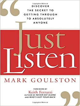 Kitap kapak resmi: Just Listen