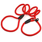 Red Color 1.35m Long Dog Pet Puppy Training Obedience Nylon Rope Lead Leash Hot