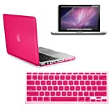 RUBAN(TM) 3 in 1 Matt HOT PINK Case for Macbook PRO 13