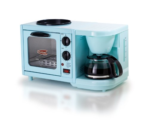 Elite Cuisine EBK-200BL 3-in-1 Multifunction Breakfast Center, Blue
