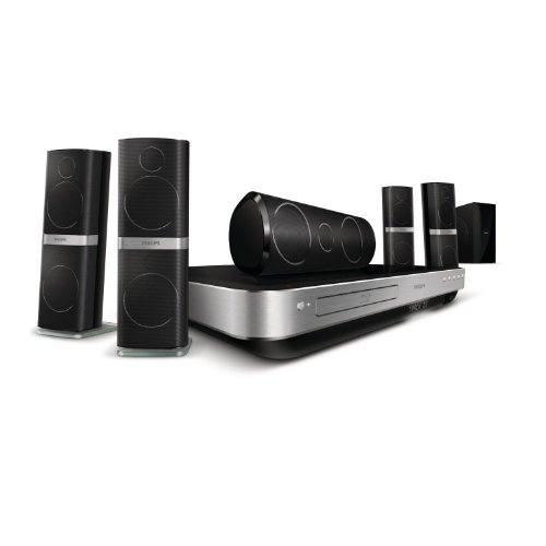 Philips HTS8562 5.1 3D Blu-ray-Dock für Apple iPod/iPhone (HDMI, Kartenslot) schwarz/silber