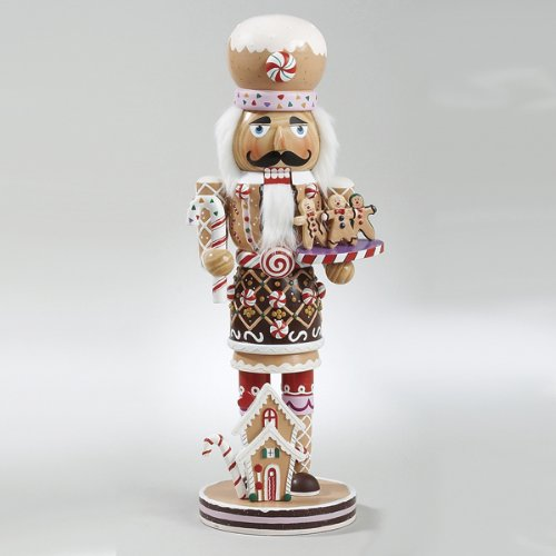 16 Gingerbread Kisses Deluxe Wooden Chef With Cookies