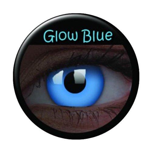 Kostümzubehör - UV Kontaktlinsen blau