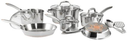 T-fal C798SC Ultimate Stainless Steel Copper Bottom Cookware Set