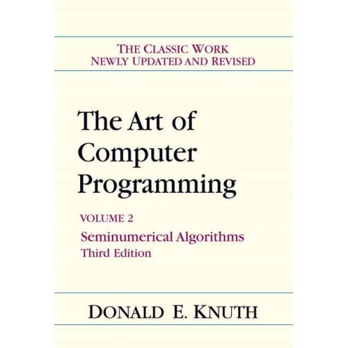 The Art of Computer Programming  Volume 2