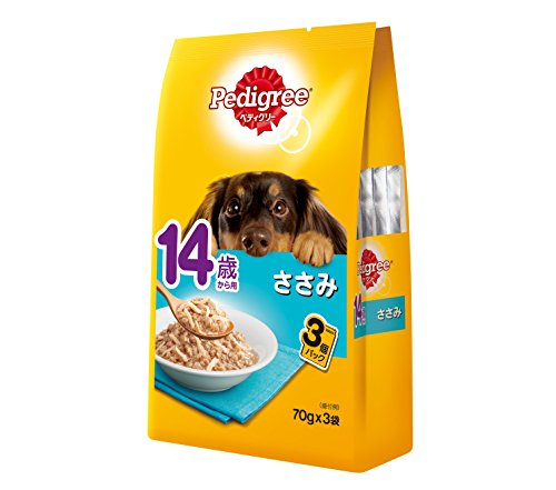 ペディグリー 14歳からシニア犬用 ささみ (70g×3袋)×48個 犬用 ウェット パウチタイプ (PWP10)