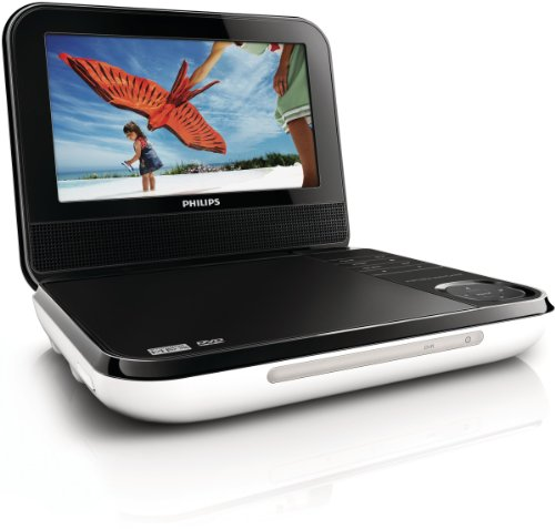 Philips PD700/37 7-Inch LCD Portable DVD Player, White