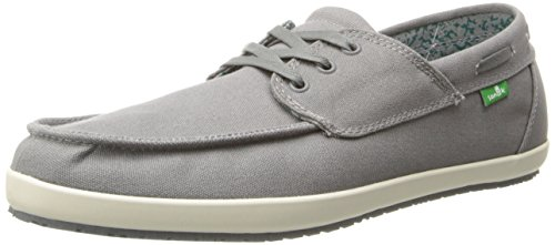 Sanuk Men's Casa Barco Boat Shoe,Charcoal,9 M US