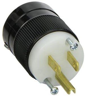 Marinco 5266 15 Amp 125 Volt, 2 Pole3 Wire, Straight