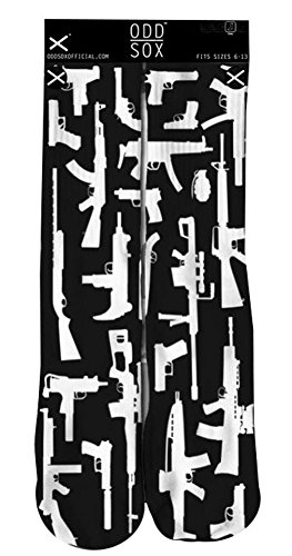 Odd Sox Strapped Machine Gun Mens Crew Socks