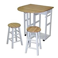 Casual Home Breakfast Cart with Drop-Leaf Table