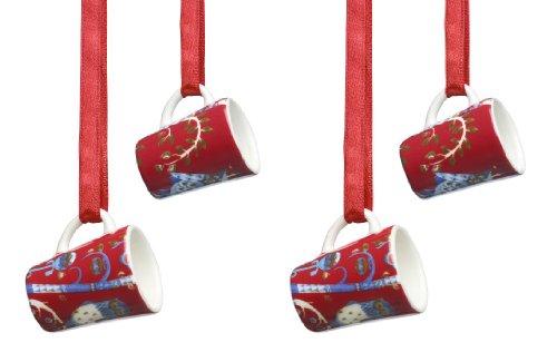iittala taika porcelain mini mug ornament set of four