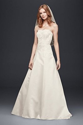 Strapless-Satin-A-Line-Wedding-Dress-Style-OP1262