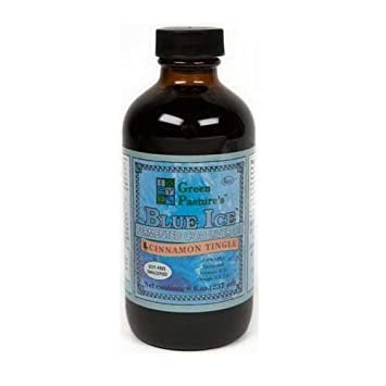 Green Pasture Blue Ice Fermented Cod Liver Oil 8-oz in Premium Packaging, Cinnamon Tingle Flavor (1-pack)