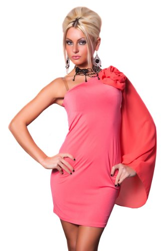 One Shoulder Minikleid mit Deko Blume