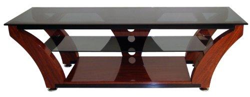 madmai kaorka 842455 tv k40 mdf meuble tv avec etageres verre trempe fume pour ecran 32 60 wenge laque shopping