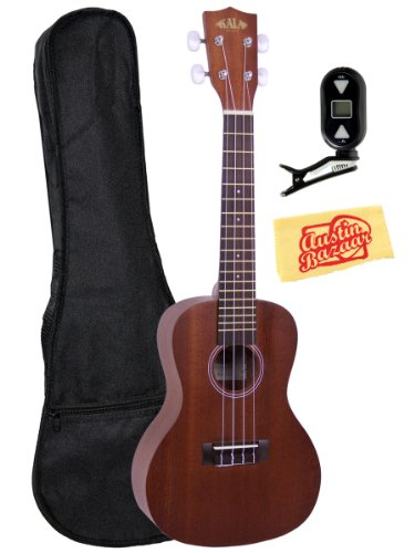 Kala-KAA-15S-Limited-Edition-Satin-Mahogany-Soprano-Ukulele-with-Rosette-Bundle-with-Gig-Bag-Tuner-and-Polishing-Cloth