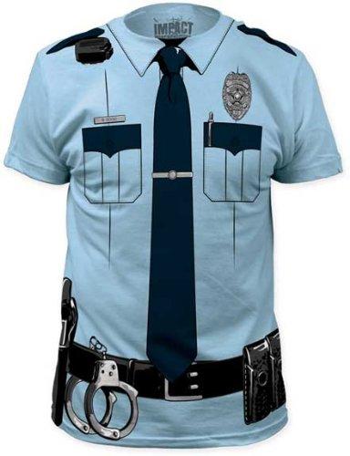 Impact Originals Police Cop Uniform Costume Tee (Small)
