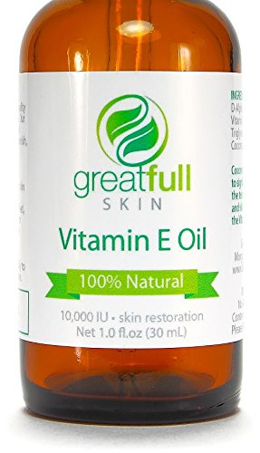 Vitamin E Oil By GreatFull Skin, 100% Natural – 10000 IU, 1 Ounce