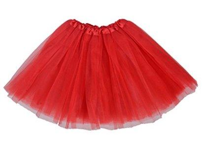 Adult-Classic-3-layered-Tulle-Tutu-Ballet-Skirts-Ruffle-Pettiskirt-Red