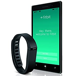 Nokia Lumia 830, Black/Green 16GB (AT&T) Bundled with Fitbit Flex Activity Tracker, Black